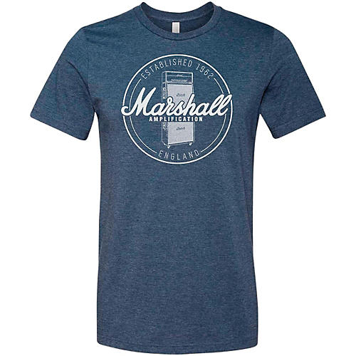 Marshall Heather Soft Style Ring Spun Cotton T-Shirt Established Navy Large