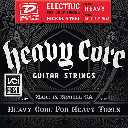 Dunlop Heavy Core Electric Guitar Strings - Heavy Gauge-thumbnail