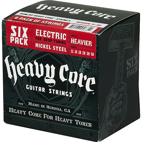 Dunlop Heavy Core Electric Guitar Strings Heavier 6-Pack-thumbnail