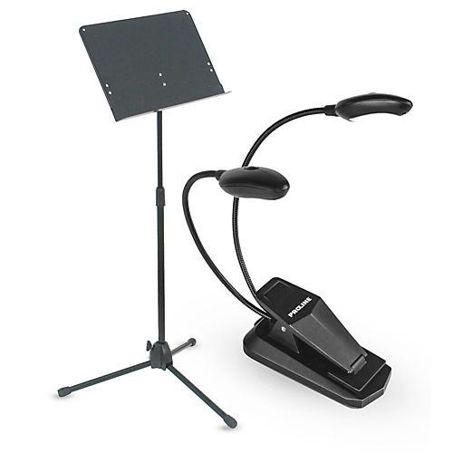 Musician's Gear Heavy Duty Music Stand & LED Light Combo-thumbnail