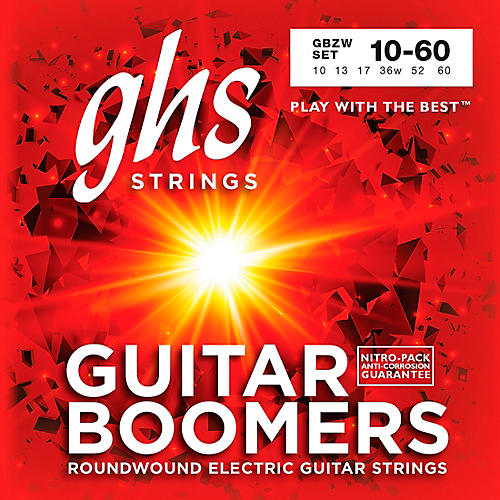 GHS Heavyweight Boomers Electric Guitar Strings Light Top-thumbnail