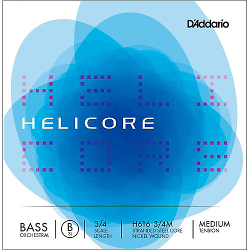 D'Addario Helicore Orchestral Series Double Bass Low B String 3/4 Size Medium