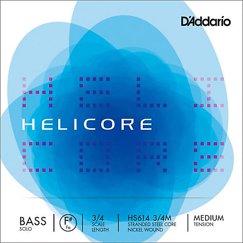 D'Addario Helicore Solo Bass Strings 3/4 Size Medium