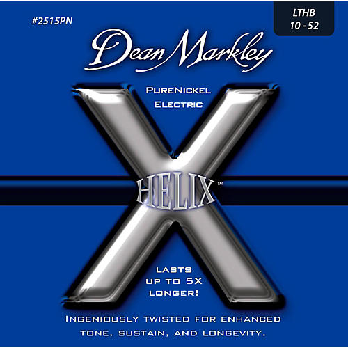 Dean Markley Helix Pure Nickel Light Top Heavy Bottom Electric Guitar Strings (10-52)-thumbnail