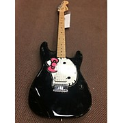 Squier Hello Kitty Stratocaster Single Hum Black With Kitty Pickgaurd Solid Body Electric Guitar