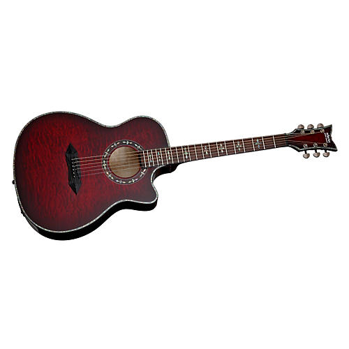 Schecter Guitar Research Hellraiser Studio Acoustic-Electric Guitar Black Cherry