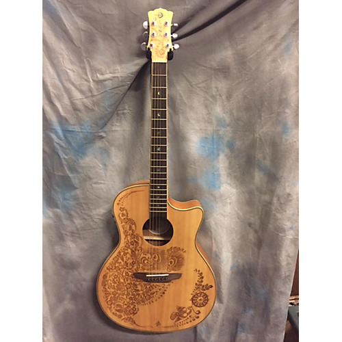Luna Guitars Hen O2 Spr Acoustic Guitar
