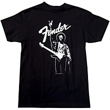 Fender Hendrix Peace Monochrome T-Shirt Black Large