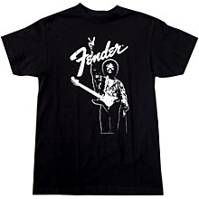 Fender Hendrix Peace Monochrome T-Shirt Black Medium