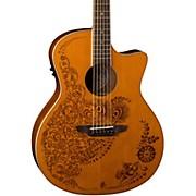 Luna Guitars Henna 0asis Cedar Acoustic-Electric Guitar