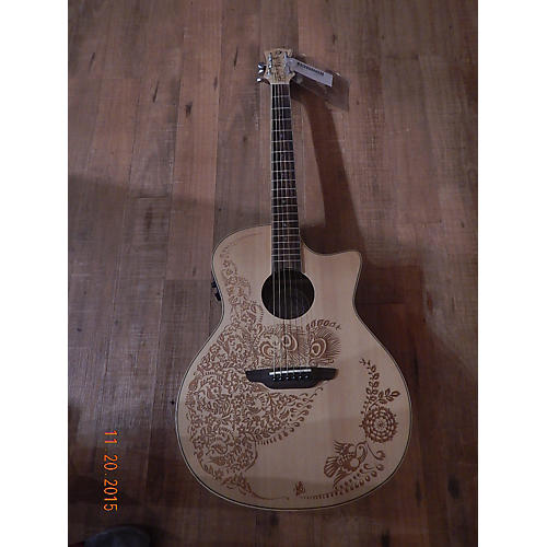 Luna Guitars Henna Oasis Acoustic Electric Guitar-thumbnail