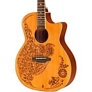 Luna Guitars Henna Oasis Cedar Series II Acoustic-Electric Guitar