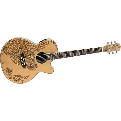 Luna Guitars Henna Oasis Cedar Top Folk Acoustic-Electric Guitar-thumbnail