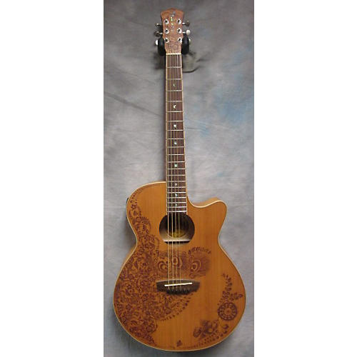 Luna Guitars Henna Oasis Natural Acoustic Electric Guitar