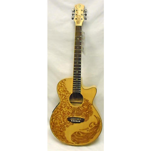 Luna Guitars Henna Paradise Acoustic Electric Guitar