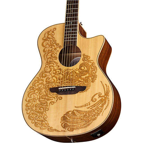 Luna Guitars Henna Paradise Spruce Acoustic-Electric Guitar-thumbnail