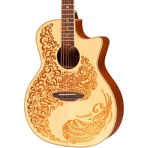 Luna Guitars Henna Paradise Spruce Series II Acoustic-Electric Guitar-thumbnail