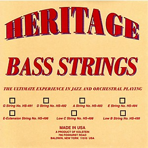 Kolstein Heritage Orchestral / Jazz Bass Strings by Kolstein