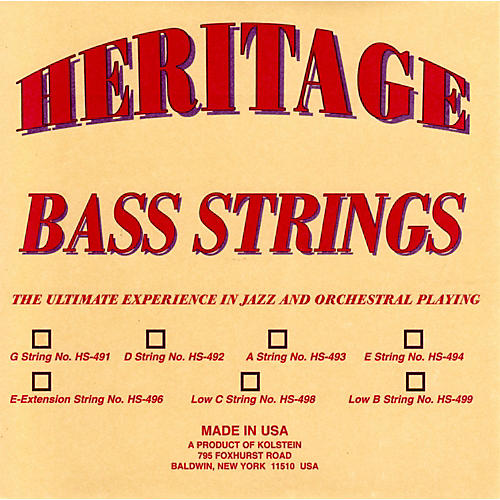 Kolstein Heritage Orchestral / Jazz Bass Strings-thumbnail