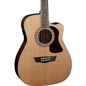 Washburn Heritage Series HF11SCE Acoustic-Electric Folk Guitar by Washburn