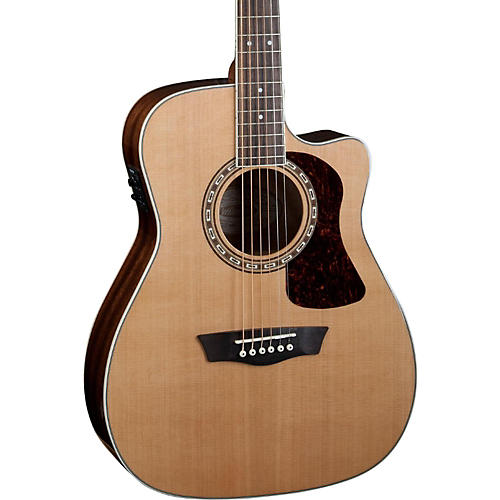 Washburn Heritage Series HF11SCE Acoustic-Electric Folk Guitar Natural