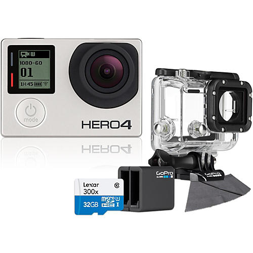 GoPro Hero4 Silver Music Edition with 32GB SD Card, Dive Housing and Charger Bundle-thumbnail