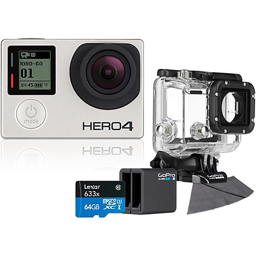 GoPro Hero4 Silver Music Edition with 64GB SD Card, Dive Housing and Charge Bundler-thumbnail