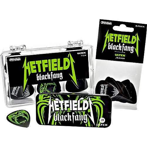 Dunlop Hetfield Black Fang Pick Tin - 6 Pack-thumbnail