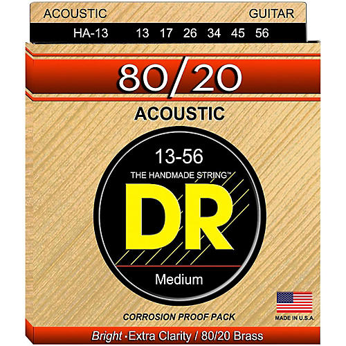 DR Strings Hi-Beam 80/20 Medium Heavy Acoustic Guitar Strings