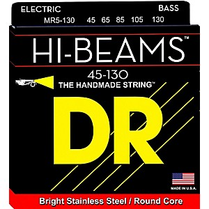 DR Strings Hi Beams Medium 5 String Bass .130 Low B String by DR Strings