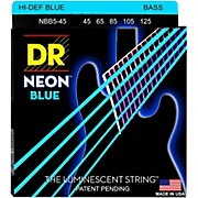 DR Strings Hi-Def NEON Blue Coated Medium 5-String (45-125) Bass Guitar Strings