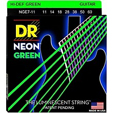 DR Strings Hi-Def NEON Green Coated Heavy 7-String Electric Guitar Strings (11-60)