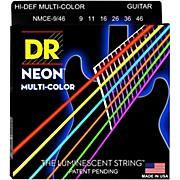 DR Strings Hi-Def NEON Multi-Color Coated Light N' Heavy Electric Guitar Strings (9-46)