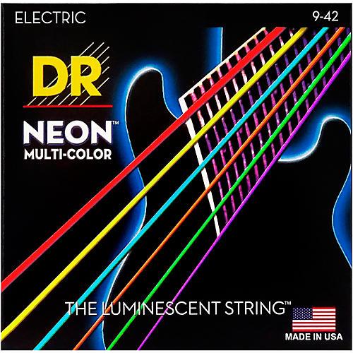 DR Strings Hi-Def NEON Multi-Color Coated Lite Electric Guitar Strings