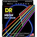 DR Strings Hi-Def NEON Multi-Color Coated Medium Acoustic Guitar Strings  Thumbnail
