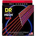 DR Strings Hi-Def NEON Red Coated Medium Acoustic Guitar Strings (12-54)