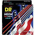 DR Strings Hi-Def NEON Red, White & Blue Electric Guitar Lite Strings-thumbnail