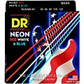 DR Strings Hi-Def NEON Red, White & Blue Electric Medium 5-String Bass Strings (45-125) Thumbnail