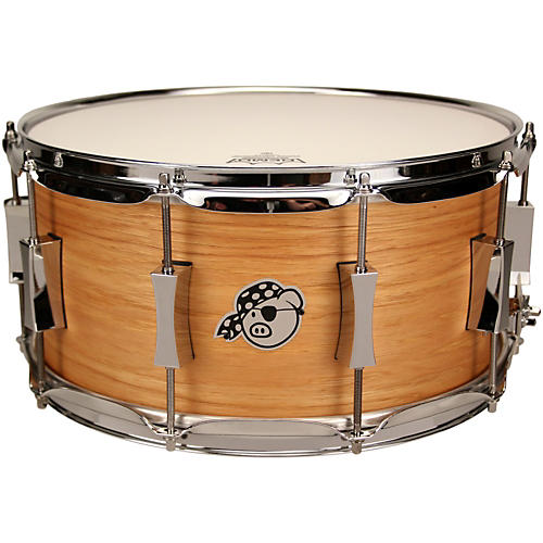 Pork Pie Hickory over Brass Snare Satin Oil 7X14