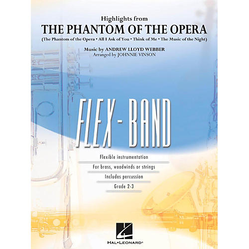 Hal Leonard Highlights From The Phantom Of The Opera - FlexBand Level 2 - 3-thumbnail