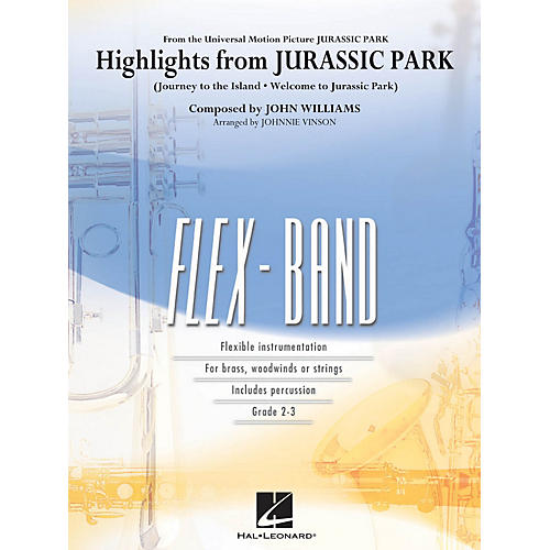 Hal Leonard Highlights from Jurassic Park Concert Band Level 2-3 Arranged by Johnnie Vinson