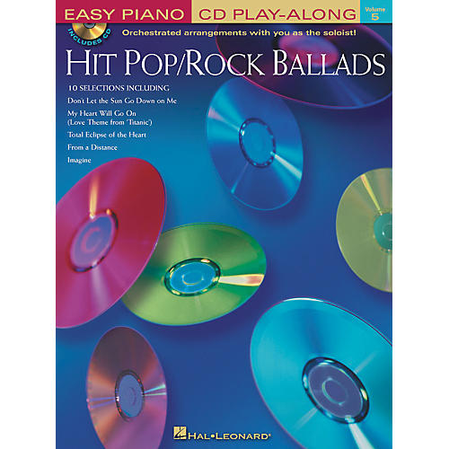 Hal Leonard Hit Pop/Rock Ballads Volume 5 Book/CD Easy Piano CD Play Along