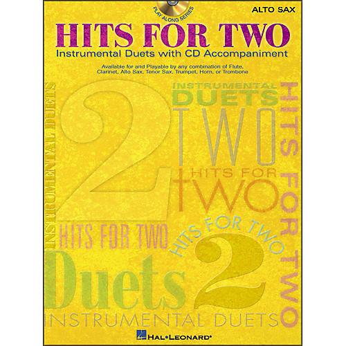 Hal Leonard Hits for Two (Instrumental Duets) for Alto Sax Book/CD Pkg-thumbnail