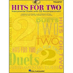 Hal Leonard Hits for Two Instrumental Duets for Trumpet Book/CD