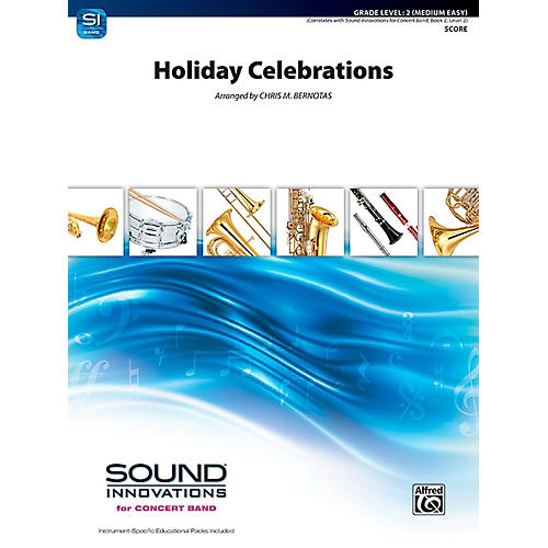 Alfred Holiday Celebrations Concert Band Grade 2 (Easy)-thumbnail