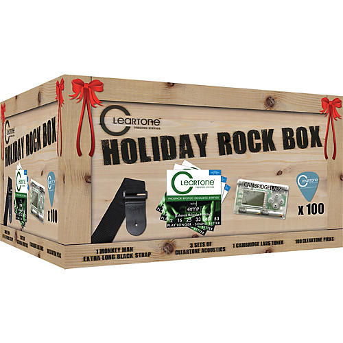 Cleartone Holiday Rock Box Strings/Tuner/Straps/Picks Pack