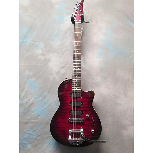 Tom Anderson Hollow Atom Solid Body Electric Guitar cajun red dark burst