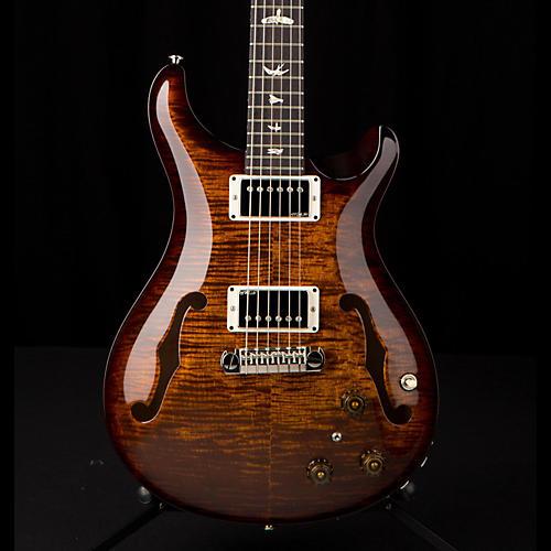 PRS Hollowbody II Flame Maple Top Electric Guitar Black Gold Burst