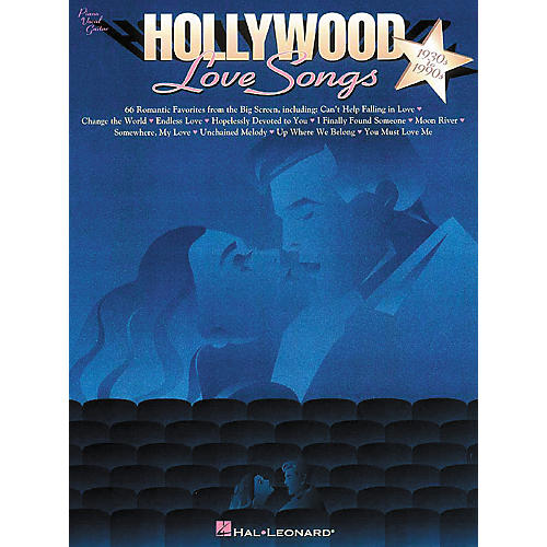 Hal Leonard Hollywood Love Songs Piano, Vocal, Guitar Songbook-thumbnail