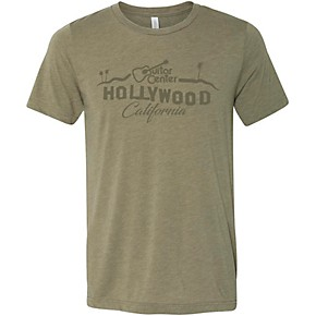 guitar center hollywood palm tree graphic tee x large guitar center. Black Bedroom Furniture Sets. Home Design Ideas